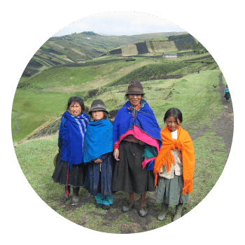 group of people in Peru highlands